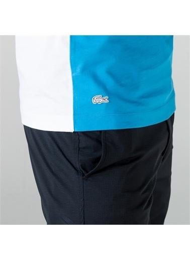 Lacoste Lacoste Erkek Slim Fit Bisiklet Yaka Renk Bloklu Renkli T-Shirt Renkli